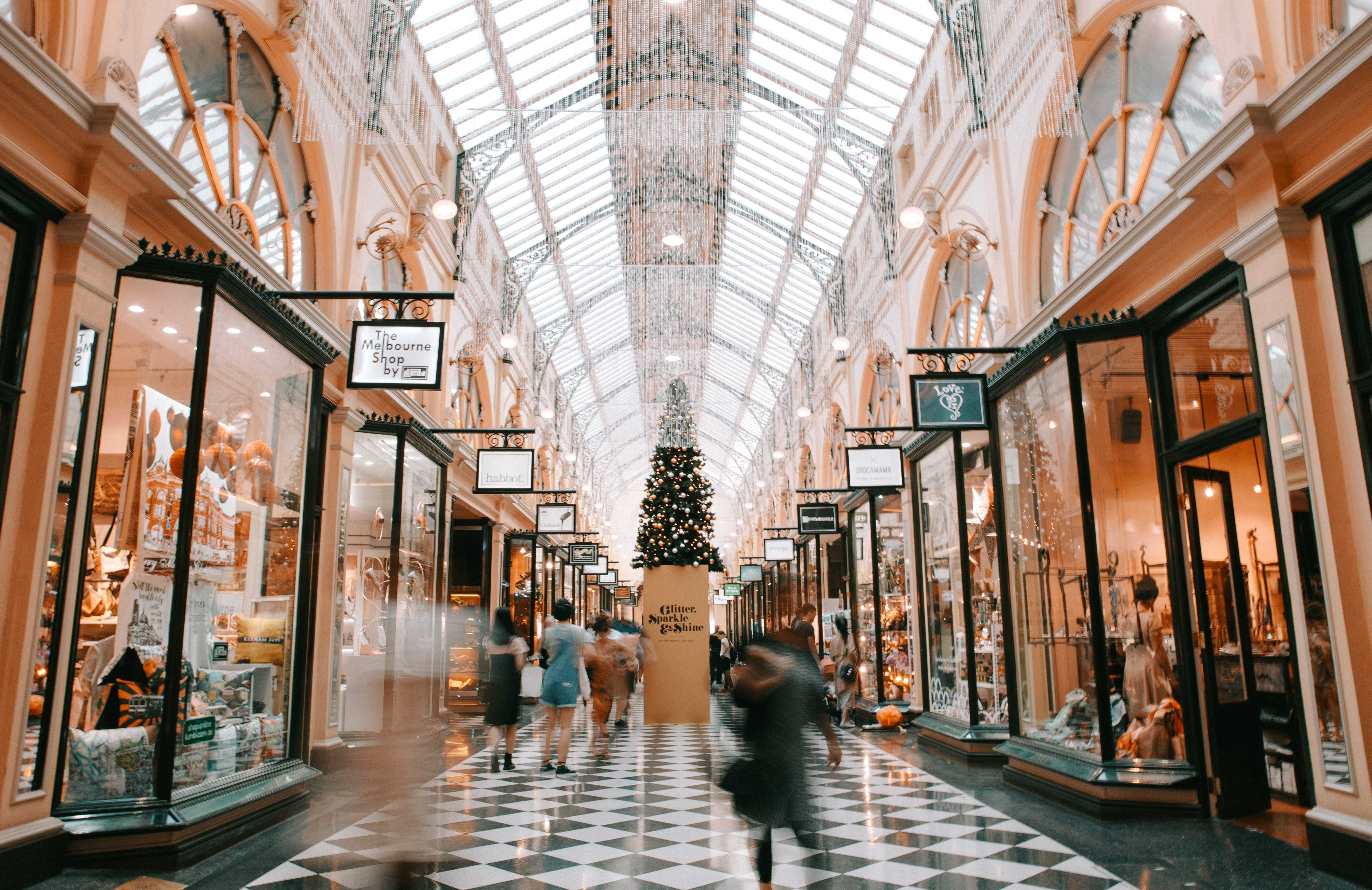 Altitude Media pre order discount shopping mall in melbourne australia with rows of shop fronts